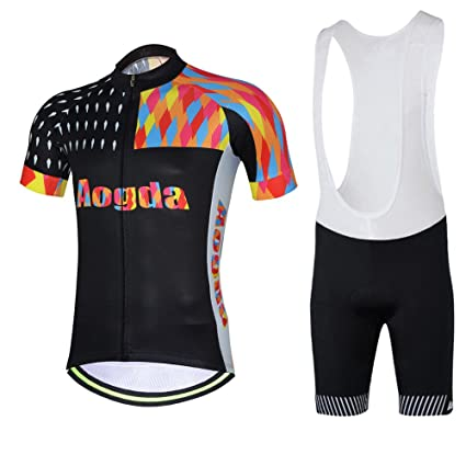 Aogda Cycling Shirts Men s Bike Tights Biking Clothing Bicycle Jerseys Set  (Bib Suit f4e2bdf23