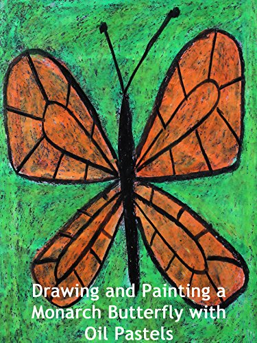drawing-and-painting-a-monarch-butterfly-with-oil-pastels