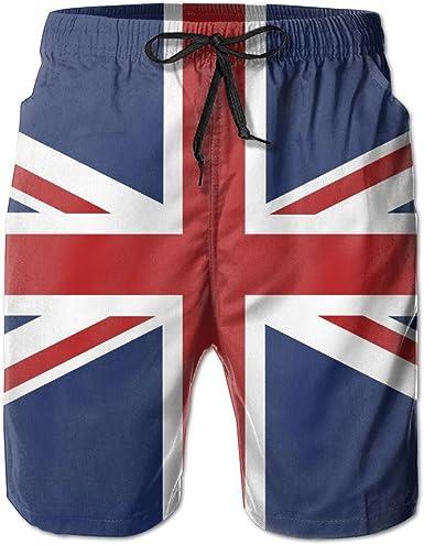 ZQ-SOUTH Mens Disorder USA Flag Quick Dry Summer Beach Surfing Board Shorts Swim Trunks Cargo Shorts