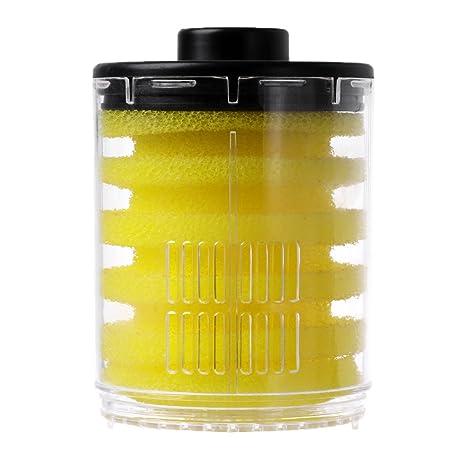 Dabixx 1 Set Accesorios para el Tanque de Peces de Filtro Esponjas de Filtro Transparentes Redondas