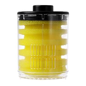 LANDUM 1 Set Accesorios para el Tanque de Peces de Filtro Esponjas de Filtro Transparentes Redondas - Botella con Tapa + Esponja: Amazon.es: Hogar