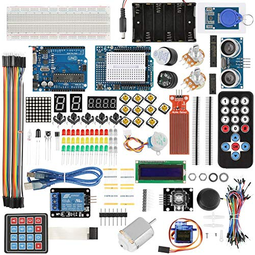 UNO Project Super Starter Kit, Walfront UNO R3 Development Board Set Breadboard LED Parts Adeept Ultimate Starter learning Kit for Arduino UNO-R3-LCD1602 Servo Processin: Amazon.es: Industria, empresas y ciencia