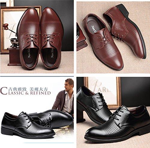 Gaorui Hommes Été Affaires Maille Chaussures Bout Pointu Respirant Causalité Sandales En Ligne Noir