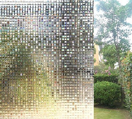 Weikai Window Films, Non Adhesive Window Film Privacy Self C