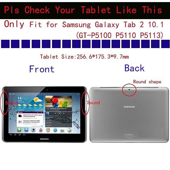 amazon com kuesn tab 2 10 1 gt p5100 p5110 cover case folio flip rh amazon com