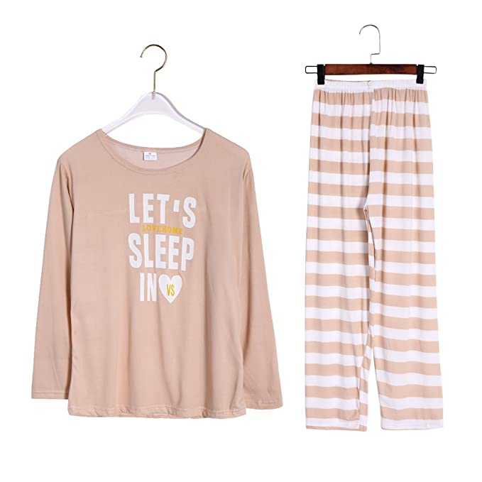 SLYlive - Pijama - para Mujer Caqui XXL
