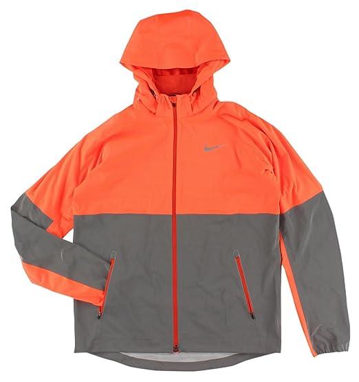 f8e80c90eba06 Nike Men s Shield Flash Jacket Black Reflective Silver at Amazon Men s  Clothing store