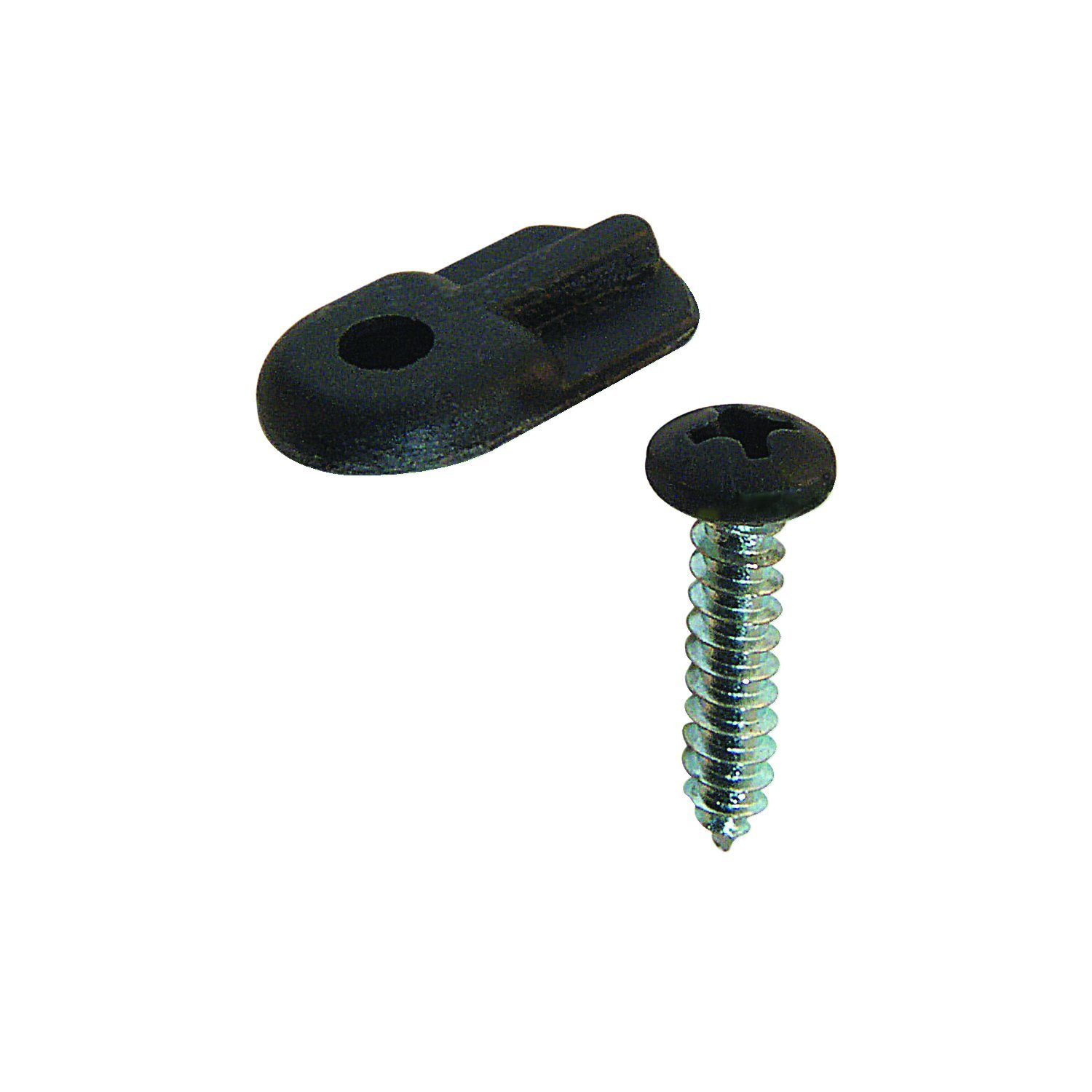 Prime-Line Products PL 7906 Flush Screen Clips with Screws (Pack of 12), Plastic Black