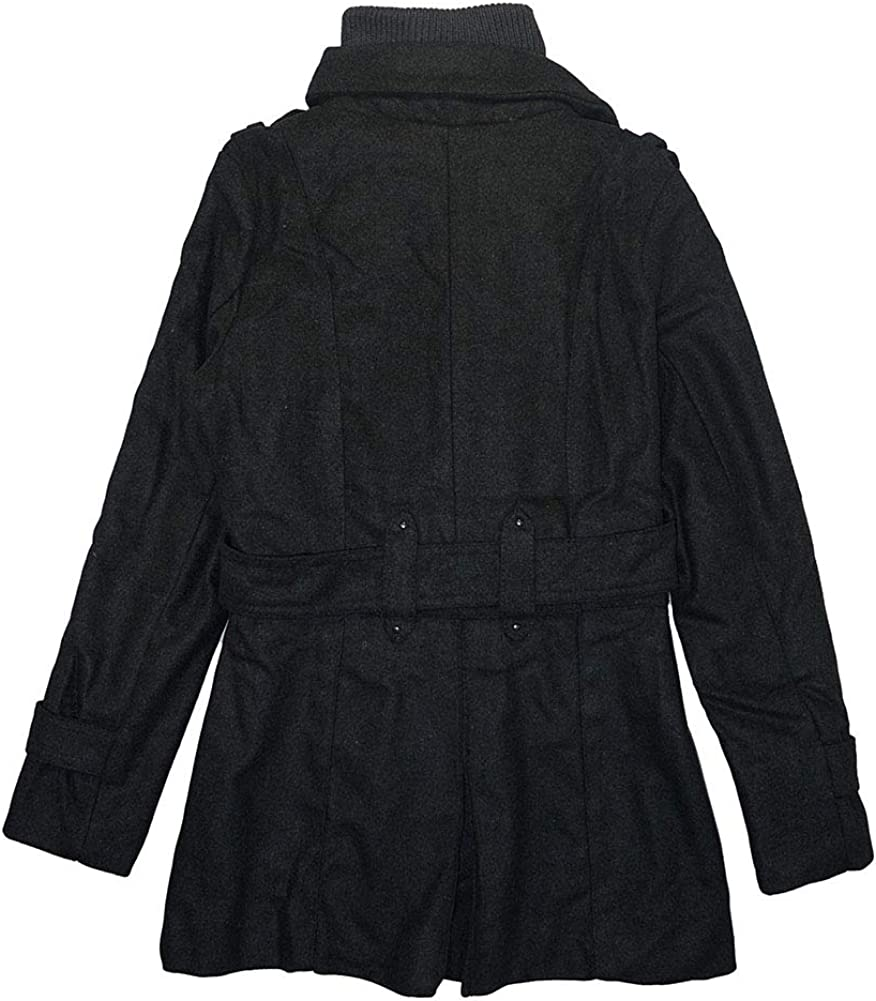 Yoki Little//Big Girls Double-Breasted Faux Wool Coat