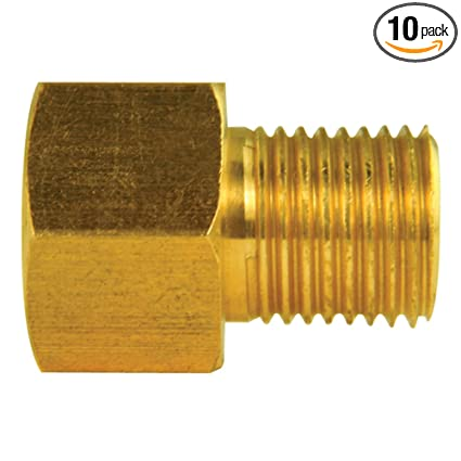 3//8 X 24 thread female Inverted Flare Pack of 10 1//2 X 20 thread male Brass Adapter Fitting
