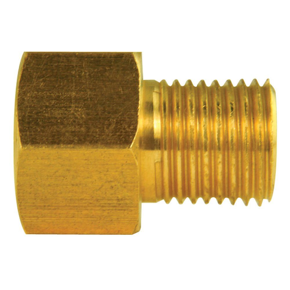Brass Adapter Inverted Flare, F(7/16-24), M(1/2-20) - Pack of 10