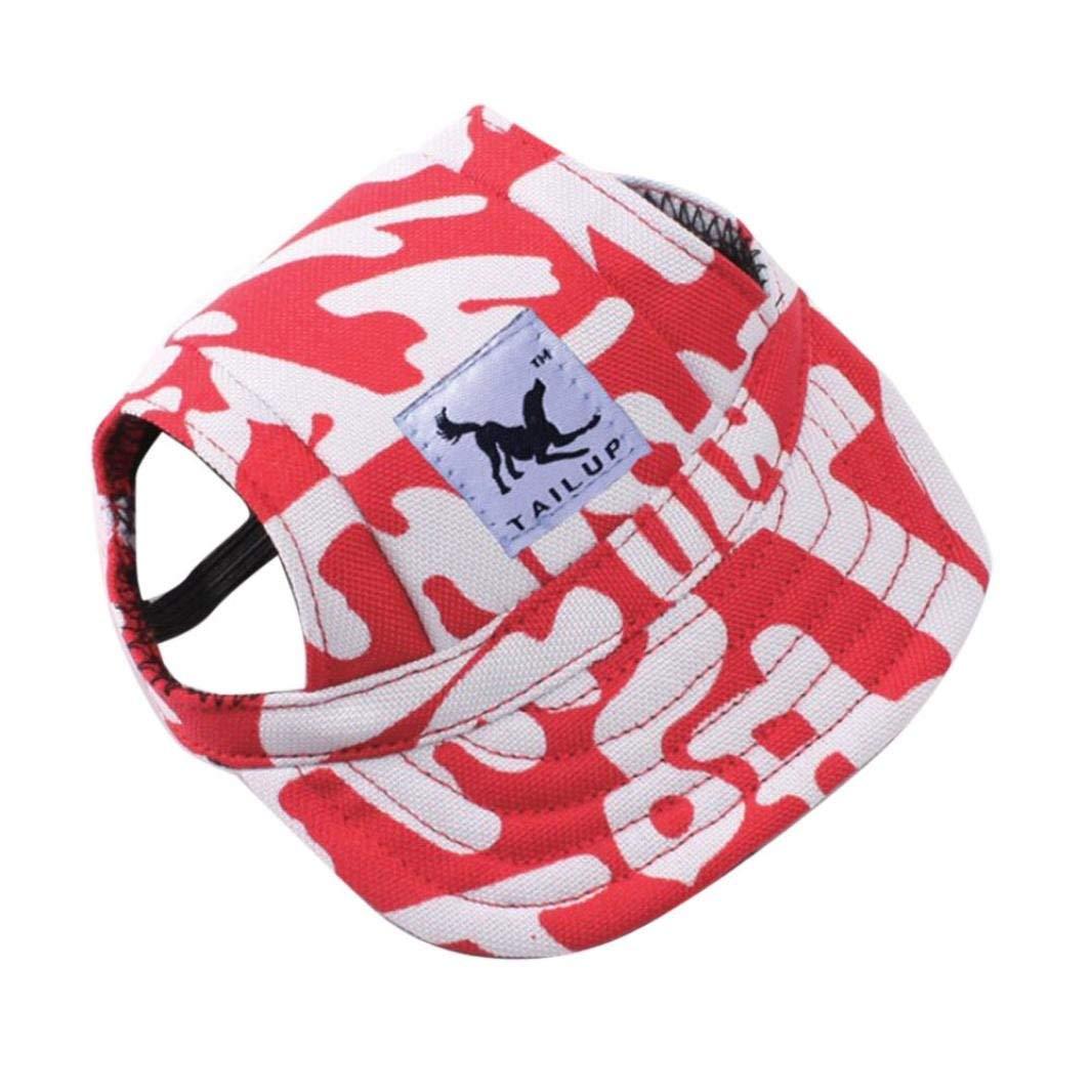H Small Pet Casual Summer Canvas Cap Dog Baseball Visor Hat Puppy Outdoor Duck Tongue Sunshade Hat,H