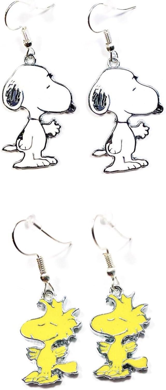 Peanuts Snoopy /& Woodstock Earrings