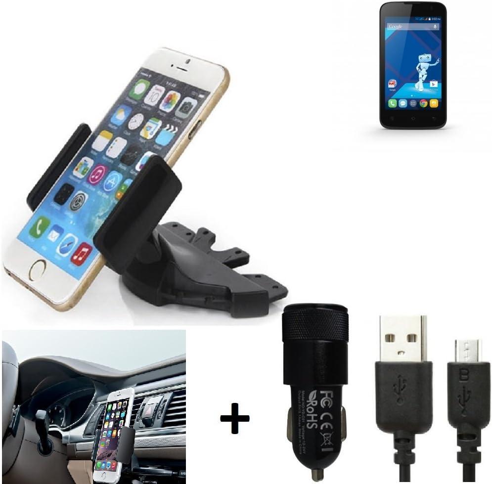 K-S-Trade® Top Set para Haier W717 Soporte Ranura de CD Smartphone Coche para los Dispositivos de navegación/teléfonos Inteligentes Montaje de la Radio Hecho Smartphone teléfono móvil: Amazon.es: Electrónica