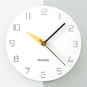Moderne Minimalistische Digitale Wanduhr Nordischen Stil Kreative Mute  Runde 12 Zoll 14 Zoll Uhr Geeignet Für