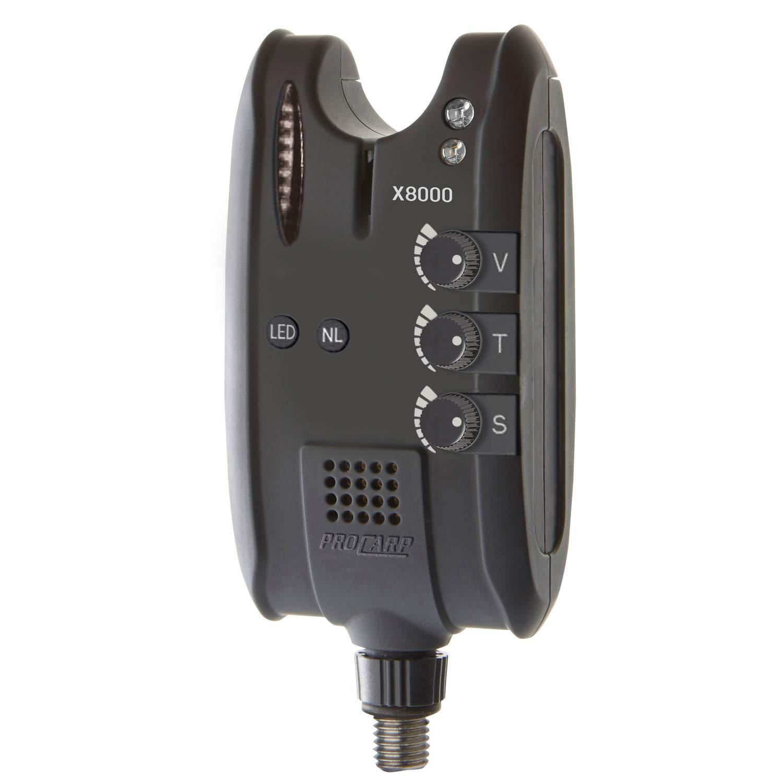 2x Cormoran Pro Carp X-8000 elektrischer High-Tech Bissanzeiger mit Tele Erdspeer