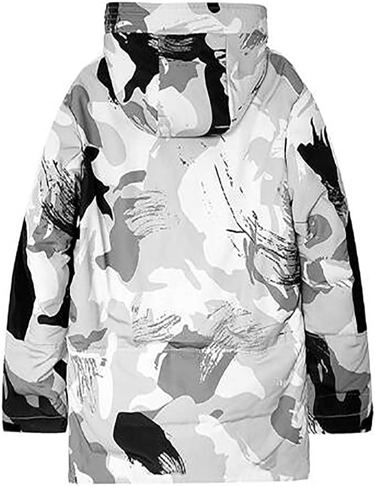 Homme Doudoune d'hiver pour Casual Chaud Doudoune Blouson Veste Hiver Jacket zippée avec Capuche Doudoune à Capuche Homme White