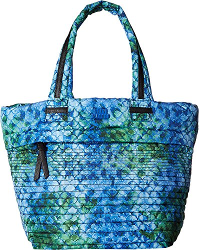 Steve Madden Women's Brova Horizontal Quilt Tote Blue Multi Tote (Quilted Shopper Tote compare prices)