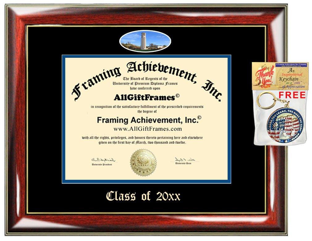 AllGiftFrames Custom Diploma Frame Embossed UCR College Best Graduation University of California Riverside Degree Frame Double Mat Campus Fisheye Picture Frame Gift