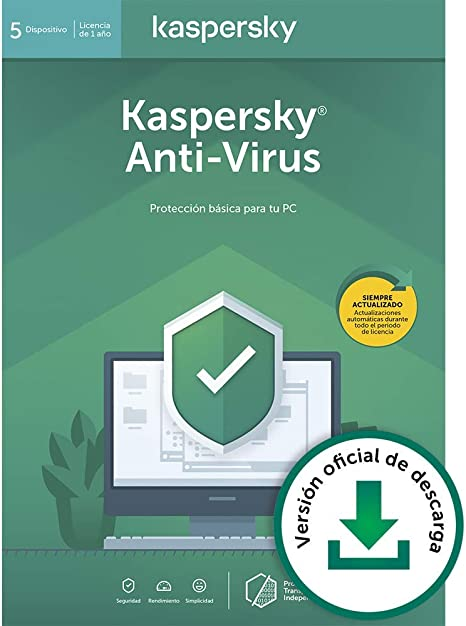 Kaspersky Anti-Virus 2020 | 5 PCs | 1 Año | PC | Código de activación vía correo electrónico: Amazon.es: Software