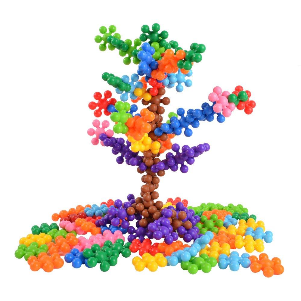 BOHS 120 PCS Click Connect Interlocking Solid Plastic Building Blocks Set STEM Educational Toy for Preschool Kids Boys and Girls,Age 4+