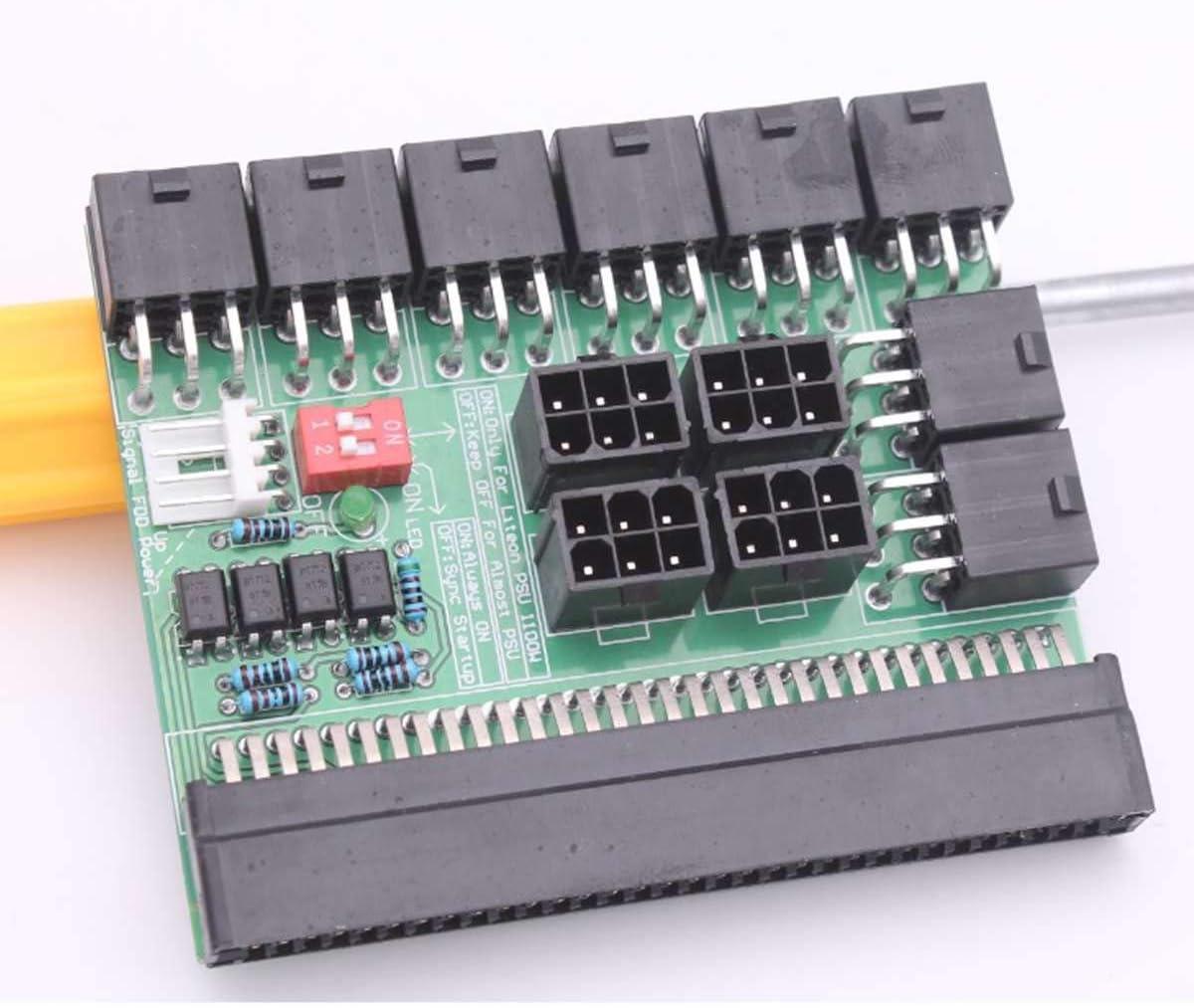 Sala-Deco DPS-1200FB//QB A 12 Pins Ports Power Supply Breakout Board Adapter For Ethereum PSU GPU Mining