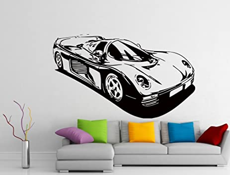 Wall Decals Formula Racing Sport Car Decal Vinyl Sticker Le Mans - Window clings for car sports