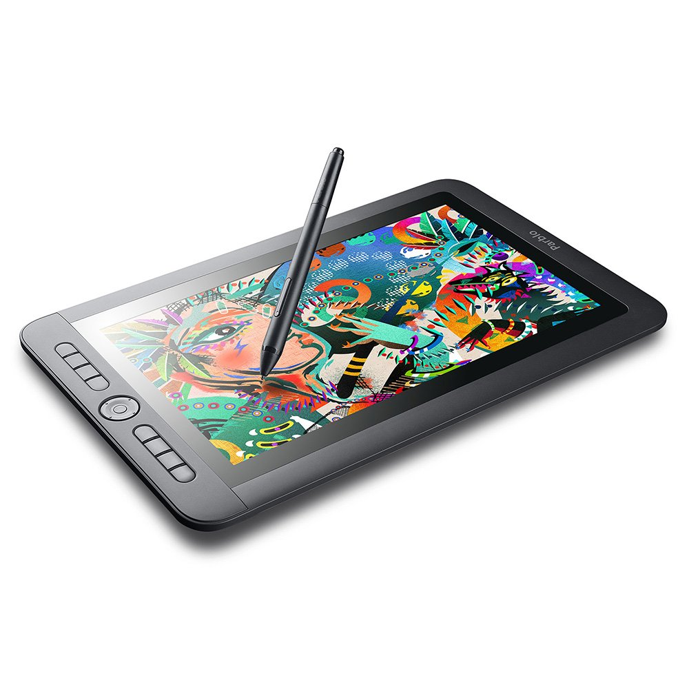 Parblo Coast13 13.3'' IPS 1920x1080 Graphic Tablet Drawing Monitor with 8 Customizable Keys and Battery-free Passive Pen + USB Type C Cable