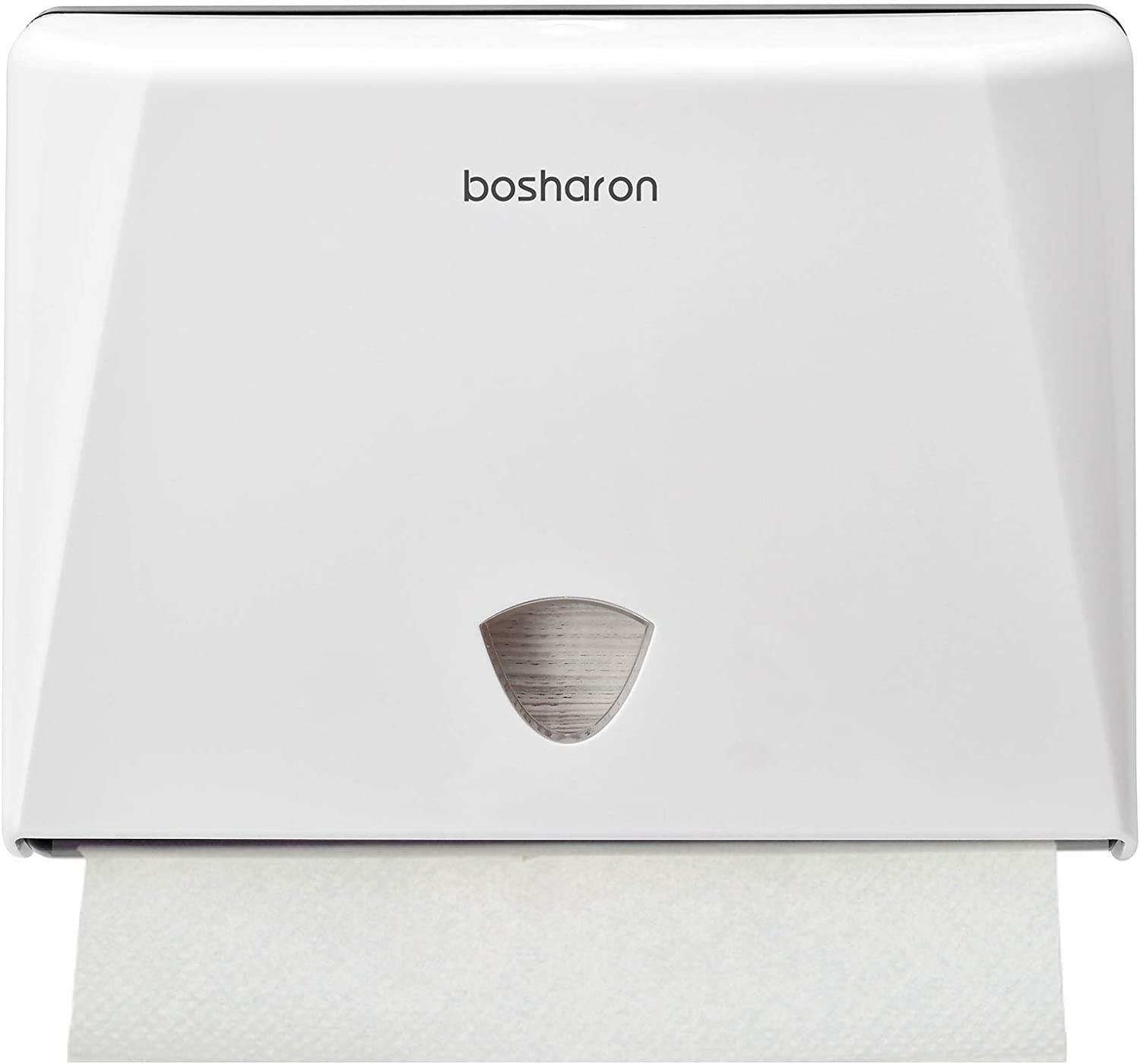 Bosharon Paper Towel Wall Dispenser, Hand Paper Towel Dispenser Wall Mount for Home and Commercial Use, Multifold Paper Towel and Tissue Holder for Bath, Kitchen, Office, Business (White)