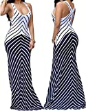 shekiss Women Sleeveless Sexy Maxi Stretch Bodycon Party Bandage Club Dresses