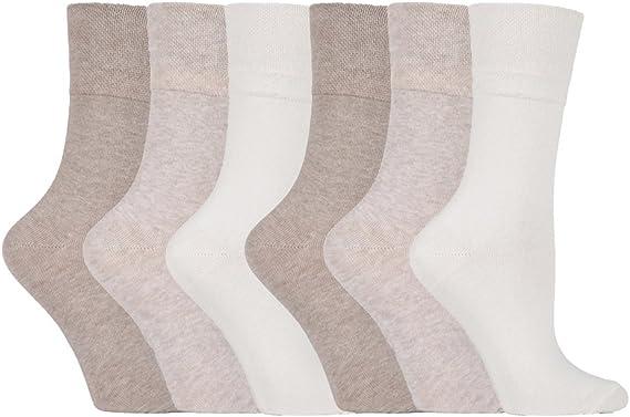 Da Donna Cuciture-Calzini 6 Paia Calze comfort ringelmuster senza elastico senza pressione