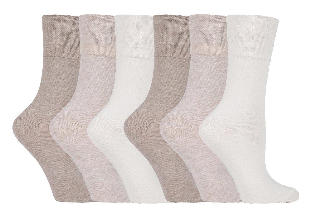 Gentle Grip - calcetines mujer sin goma colores fantasia estampados de algodon tamaño 37-42