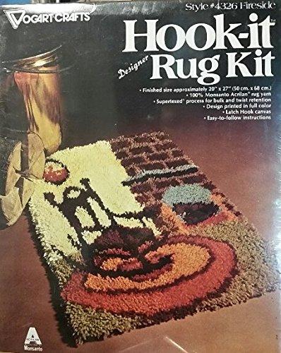 Hook It Designer Rug Kit, Fireside Style #4326 Vogart Crafts