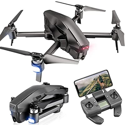4DRC M1 Foldable GPS Drone with 4K FHD 5G transmission FPV Camera Live Video for Adults Quadcopter with Brushless Motor, Auto Return Home, Follow Me, 30 Minutes Flight Time, 1600M Control Range, Black: Toys & Games