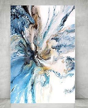 Coloré Océan Grande Affiche Abstraite Toile Art Paysage
