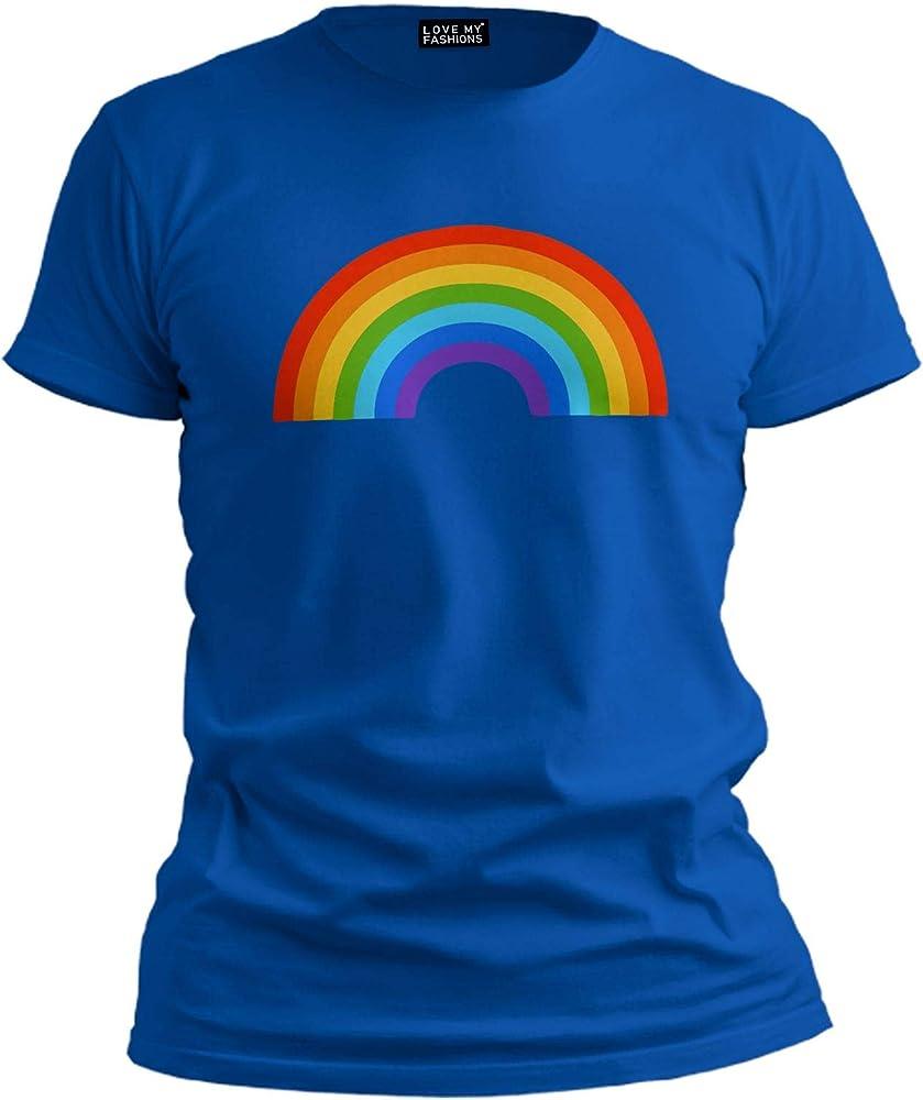 Love My Fashions Unisex Rainbow Short Sleeve Summer Top: Amazon.es: Ropa y accesorios