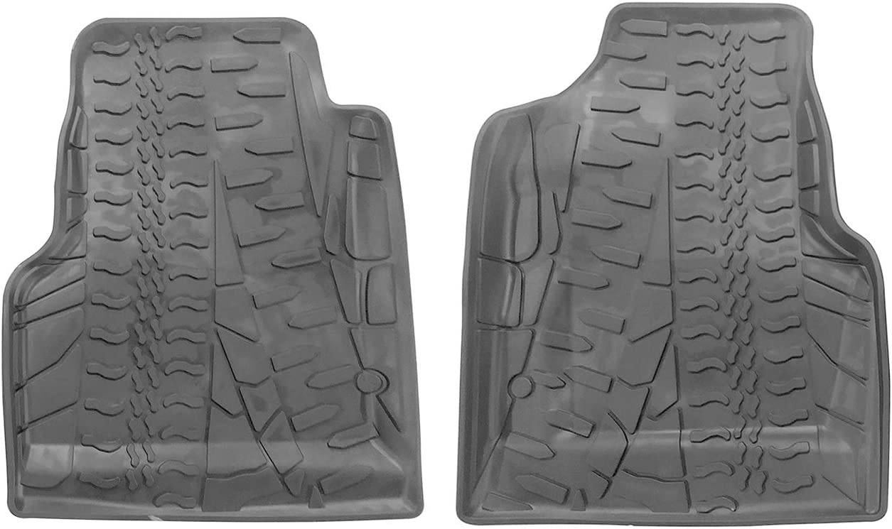 orealtrend Black Floor Mats Liners replacement for Jeep Wrangler TJ 1997-2006 Heavy Duty All Weather Guard Front and Rear Car Carpet-Custom Fit-Tough Durable Odorless