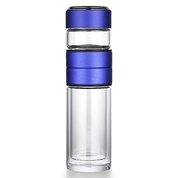 oneisall gybl234 400 ml botella de agua potable de vidrio, vertidos Borrosilicate vaso de té