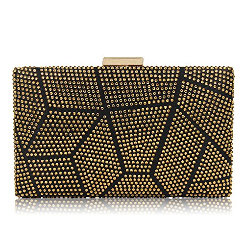 Women Clutches Crystal Evening Bags Clutch Purse Party Wedding Handbags (Gold) by Mystic River