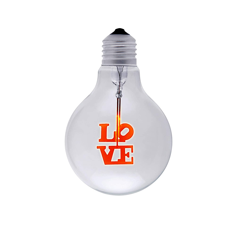 DarkSteve - Violet - Vintage Light Bulb - Edison Style G80 E27 Screw Filament Decorative Light Bulbs #1 Unique Gift