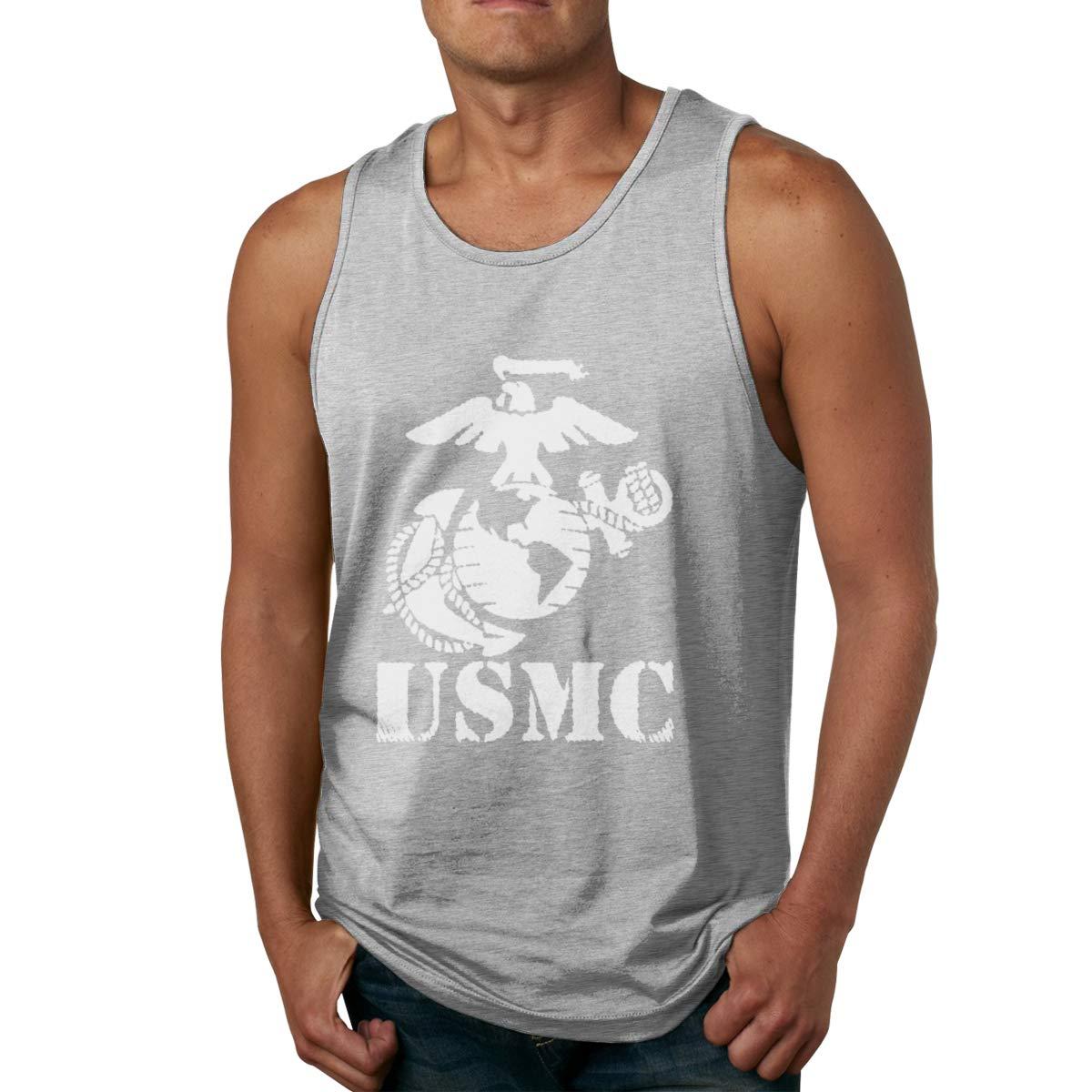 Seuriamin Usmc Corps S Comfortable Athletic Sleeveless Tank Top T Shirts