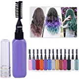 Brussels08 Unisex Temporary Non-toxic Colour Hair Dye Fancy Dress Makeup Hair, Mascara Brush (Standard, Blue) - Combo Set