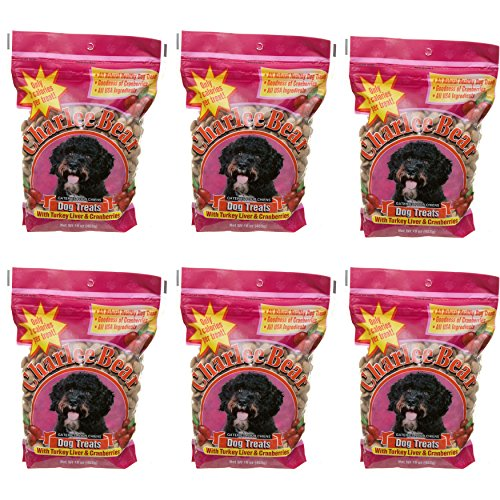 Charlee Bear Dog Treats with Turkey Liver & Cranberries (6 Pack) 16 oz Each (Charlee Bear Dog Liver Treats)