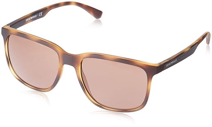 Emporio Armani 0EA4104 Gafas de sol, Havana Rubber, 57 ...