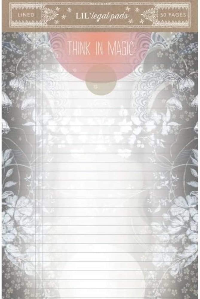 Papaya Womens Art 4x7 50 Lined Pages Little Legal List Pad Think in Magic