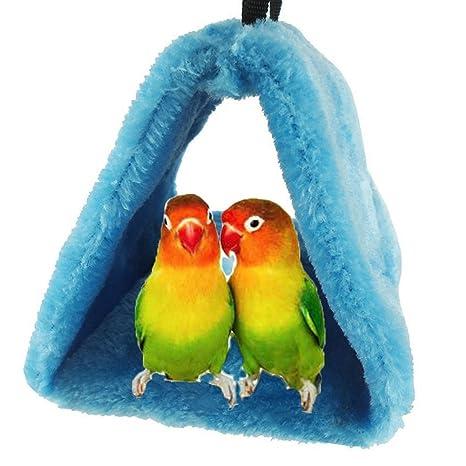 Bello Luna Loro azul nido de pájaro mascota nido de invierno cálido hamaca colgante cueva jaula