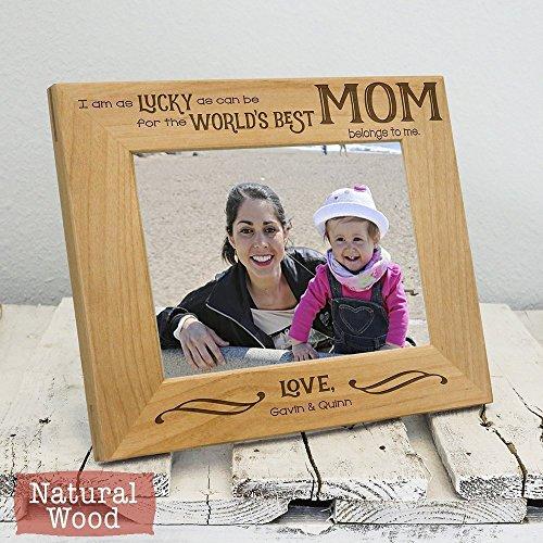 Personalized Worlds Best Mom Frame - Personalized Christmas Gifts For Mom - Christmas Gifts For Her - Mom Christmas Gift - Mom Picture Frame - Mom Gift From Children