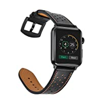 Leather Band for Apple Watch Bands iwatch series 1 2 3 nike+ strap classic buckle Stainless Steel 38 42mm