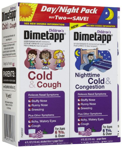 Dimetapp Children's Cold & Congestion Daytime/Nighttime Liquid-Grape-8 oz