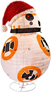 "Kurt Adler 28"" Star Wars BB8 Collapsible Lighted Tinsel Décor"